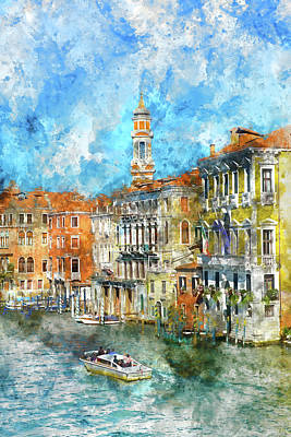 Photograph - Venice Italy On A Nice Day by Brandon Bourdages