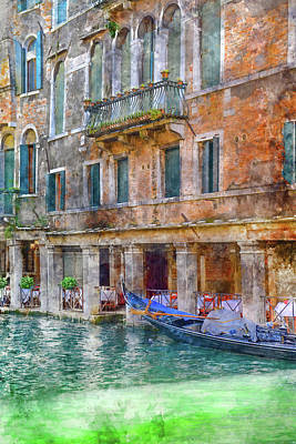 History Channel Digital Art - Venice Italy On A Sunny Day by Brandon Bourdages