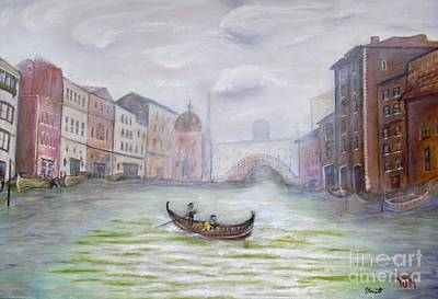 Venice Art Painting - Venice Italy - Original Oil Painting by Anthony Morretta