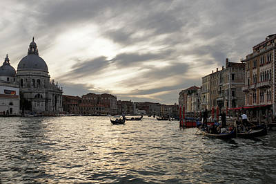 Photograph - Venice Italy - Pearly Skies On The Grand Canal by Georgia Mizuleva