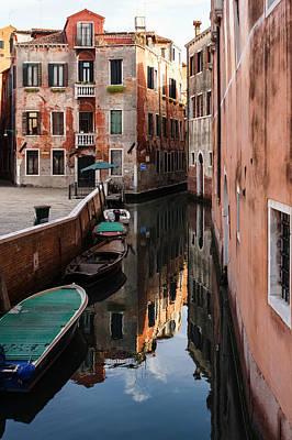Venice Italy - Wandering Around The Small Canals Art Print by Georgia Mizuleva