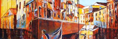 Painting - Venice Journey by Miki  Sion