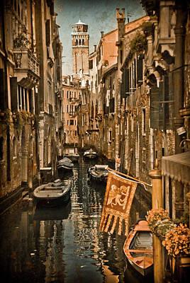 Photograph - Venice, Italy - Lion Flag by Mark Forte