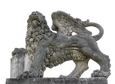 Marble Animal Figures Sculpture - Venice Lion by Germano Poli