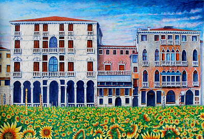 Architektur Painting - Venice by Marcin Stec