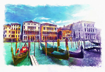 Mixed Media - Venice by Marian Voicu