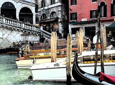 Digital Art - Venice Marina by Mindy Newman