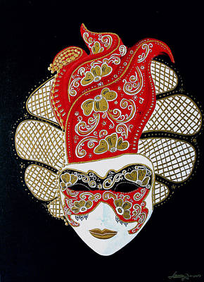 Painting - Venice Mask by JoeRay Kelley
