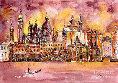 Venice Medley Art Print by Callan Percy