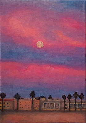 Painting - Venice Moonrise by Pia Tohveri