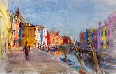 Digital Art - Venice Morning Walk by Yury Malkov