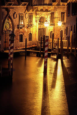 Photograph - Venice Night by Andrew Soundarajan