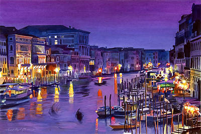 Royalty-Free and Rights-Managed Images - Venice Nights by David Lloyd Glover