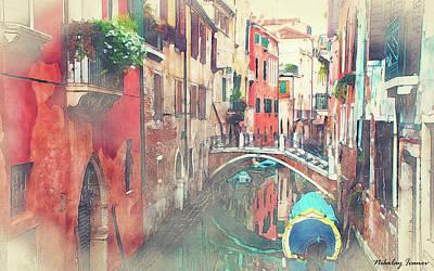 Ship Painting - Venice Painting-01 by Nikolay Ivanov