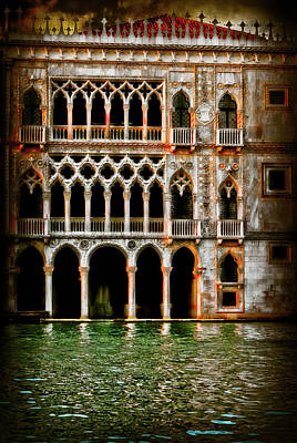 Art Print featuring the photograph Venice Palace  by Harry Spitz