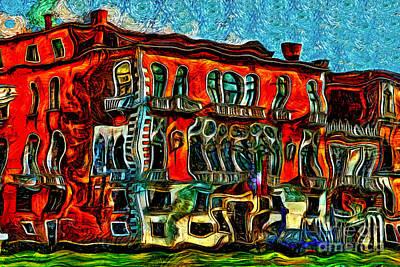 Painting - Venice Palace by Milan Karadzic
