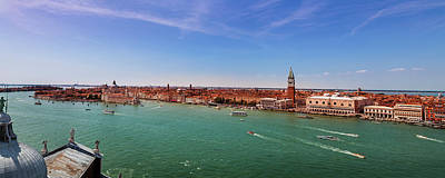 Doges Palace Photograph - Venice Panorama by Andrew Soundarajan