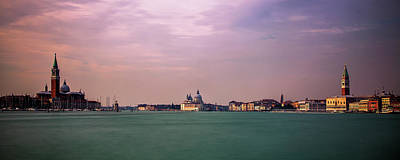 San Marco Photograph - Venice Panorama At Dusk by Andrew Soundarajan