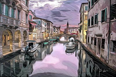 Digital Art - Venice Italy by S Art