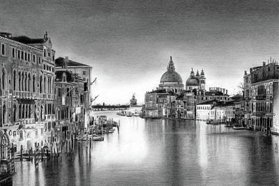Venice Pencil Drawing Art Print
