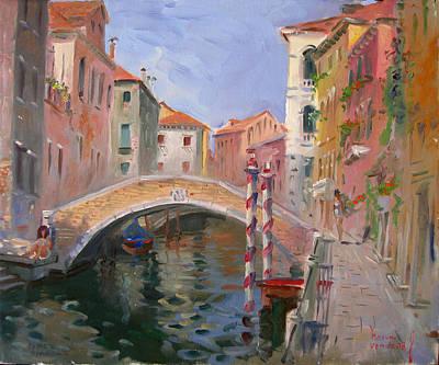Ponte Painting - Venice Ponte Vendrraria by Ylli Haruni