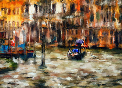 Digital Art - Venice Rainy Day by Yury Malkov