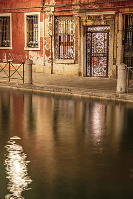 Photograph - Venice Red Canal  by John McGraw