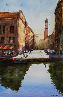 Painting - Venice Reflection  by Lior Ohayon