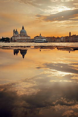 Photograph - Venice Reflection by Songquan Deng