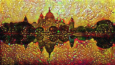 Mixed Media - Venice Reflections by Lilia D