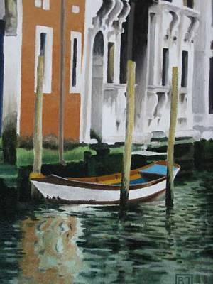 Painting - Venice Reflections by David Rodman Johnson