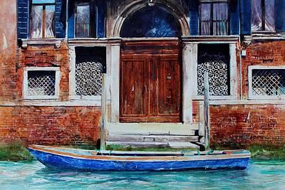 Painting - Venice Rendevous by David  Poxon