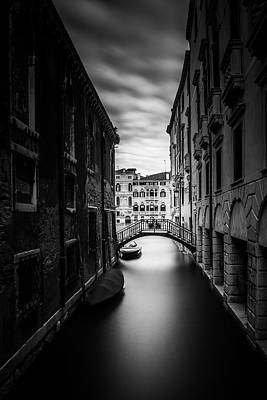 Photograph - Venice Residential Canal by Andrew Soundarajan