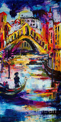 Painting - Venice Rialto Bridge Travel Italy 2016 by Ginette Callaway