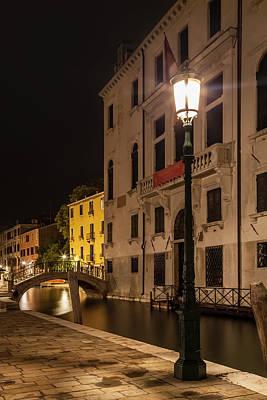 Venice Rio Di San Vio And Palazzo Cini Art Print by Melanie Viola