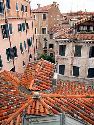 Painting - Venice Roof Tiles by Lisa Boyd