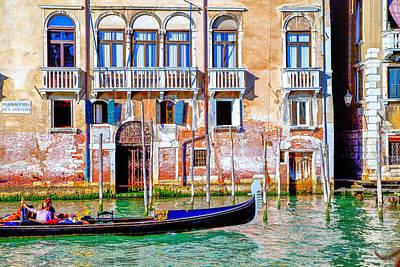 Venice Photograph - Venice San Marco Gondola by Jean-luc Bohin