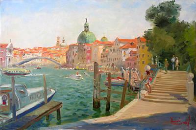 Venice Santa Chiara Art Print by Ylli Haruni