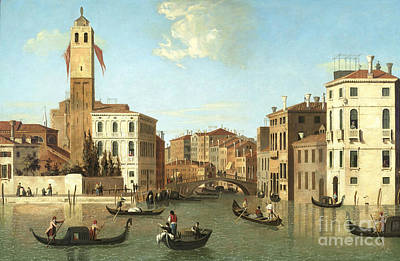 1754 Painting - Venice Scene Attributed  by MotionAge Designs
