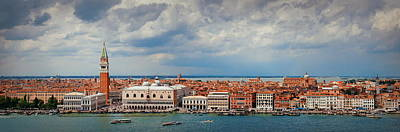 Photograph - Venice Skyline Panorama by Songquan Deng
