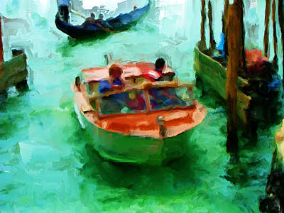 Lateran Painting - Venice Smooth Boat Ride by Brian Reaves
