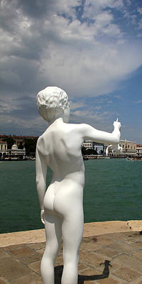 Photograph - Venice Statue by Andrew Fare
