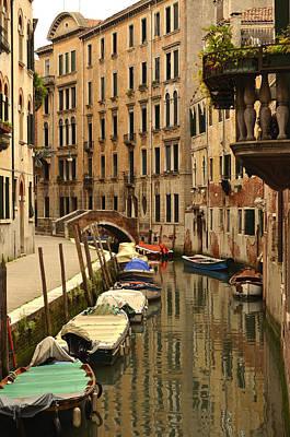 Photograph - Venice Street Scene 2 by Richard Ortolano