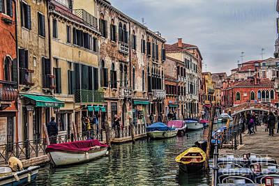 Photograph - Venice Street Scenes by Shirley Mangini