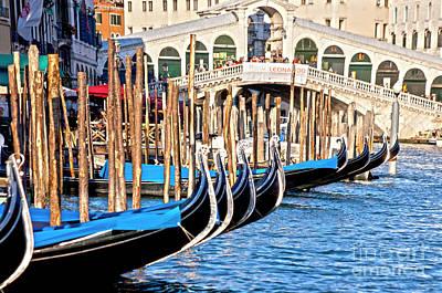 Venedig Photograph - Venice Sunny Rialto Bridge by Heiko Koehrer-Wagner