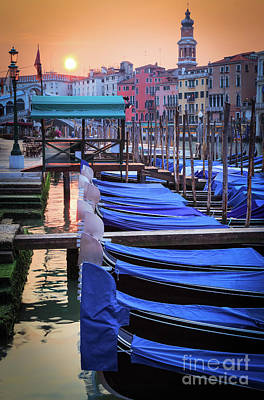 Veneto Photograph - Venice Sunrise by Inge Johnsson