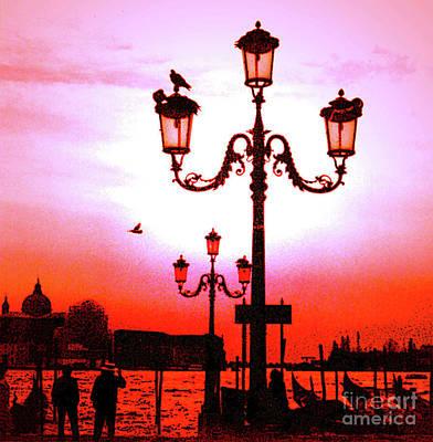 Photograph - Venice Sunset by Elizabeth Hoskinson