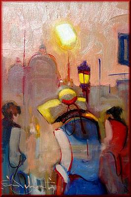 Italy Town Large Painting - Venice Sunset by Pelagatti