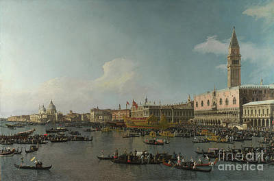 Abstract Oil Paintings Color Pattern And Texture - Venice The Basin of San Marco on Ascension Day by Celestial Images