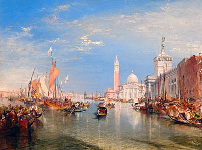 Outlook Painting - Venice, The Dogana And San Giorgio Maggiore by JMW Turner